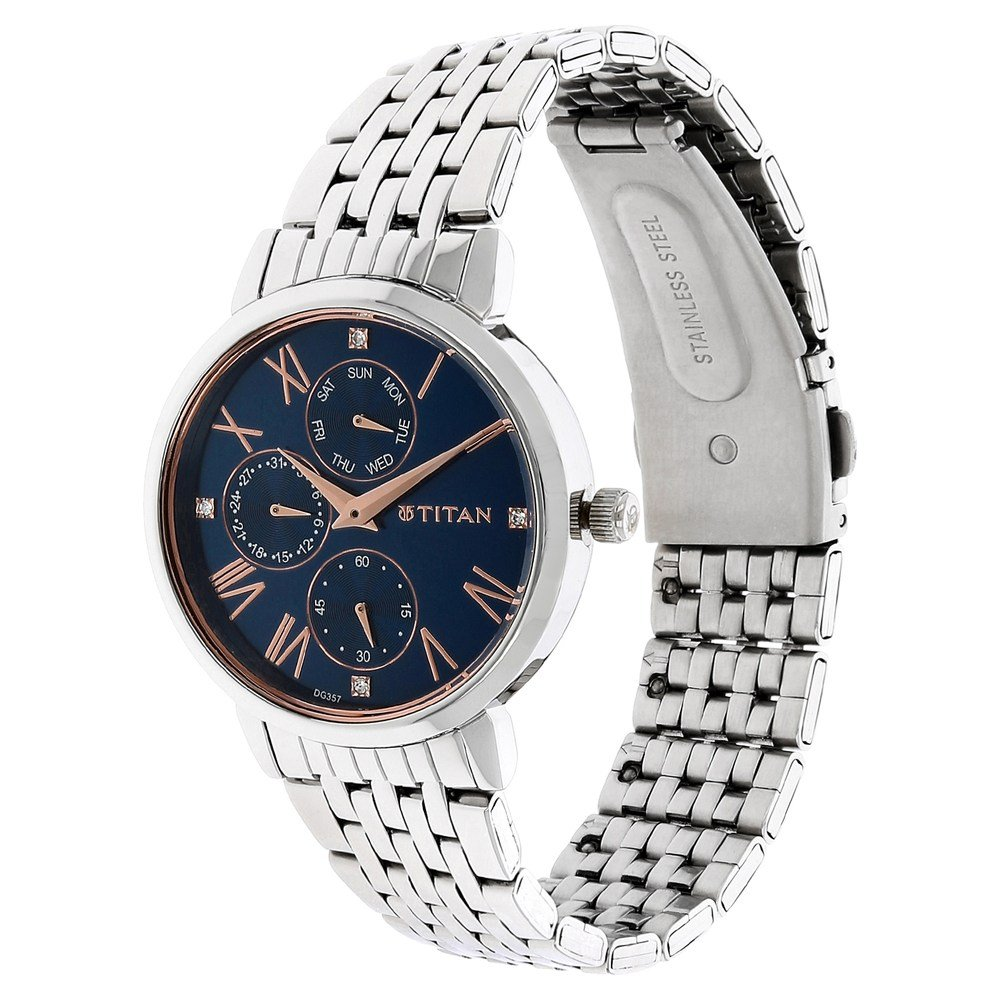 Buy Titan Ladies Neoii Analog Blue Dial Women S Watch Nm2569sm01 Nl2569sm01 Online At Low Prices In India Amazon In