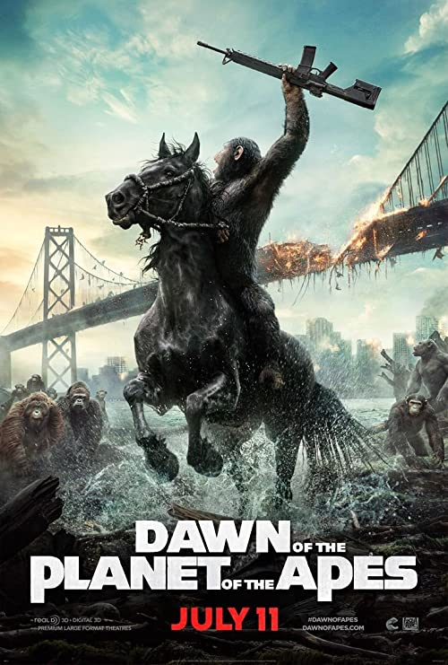 Amazon.com: Dawn of the Planet of the Apes (24x36 inch, 60x89 cm ...