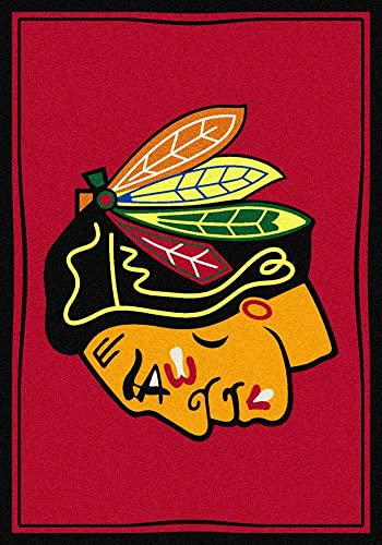 Milliken Chicago Blackhawks 5 4 x 7 8 Team Spirit Area Rug