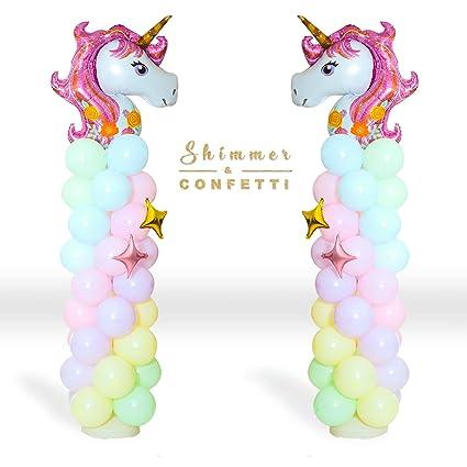 Amazon Com Shimmer Confetti Diy Sturdy Pastel Unicorn Balloon