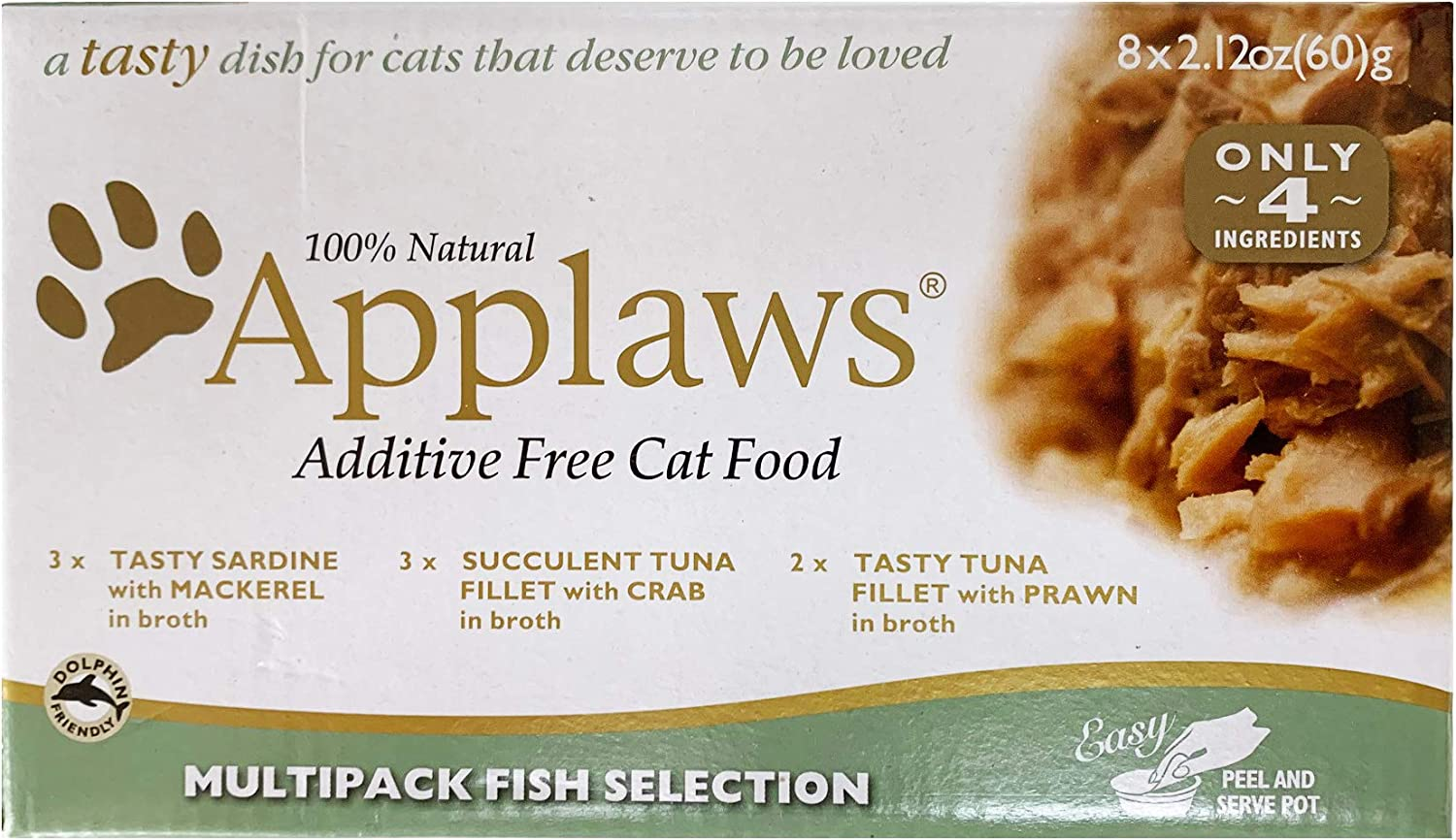 Applaws Multi Pack Selection Fish Cat Food Natural Additive Free 2.12Z 8Ct