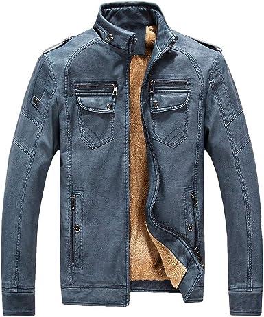 Abrigo de algodón de Hombre BBestseller Sweatshirt Cazadora Color Sólido Cremallera Manga Larga Sudadera Tops Outwear La Chaqueta Invierno (M, Azul): Amazon.es: Ropa y accesorios