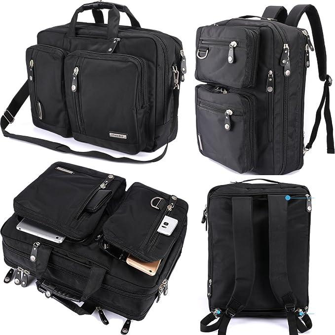 hybrid black messenger bag