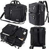 FreeBiz Laptop Bag Convertible Backpack Business Briefcase Messenger Bag for 17.3 Inch Laptop Computer Notebook MacBook Chromebook for Men Women Students(Black)