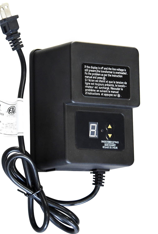 Khan 120w Landscape Lighting Transformer For Outdoor Use With Sensor Wiring And Timer Program Low Voltage 12v