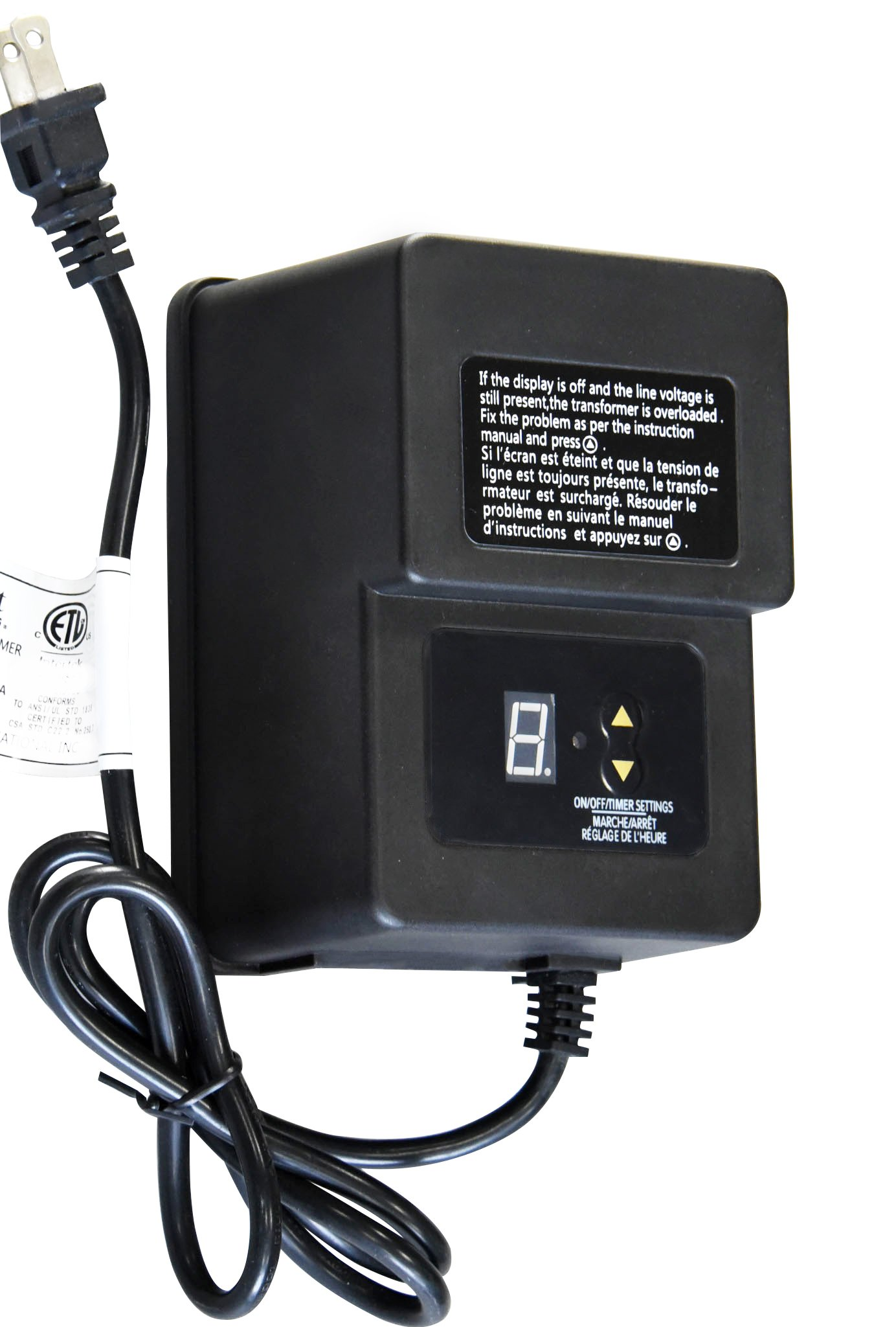 Khan 120w Landscape Lighting Transformer for Outdoor use with Sensor and Timer Program Low Voltage 12V Output Power Pack KH-120T by Khan Tech