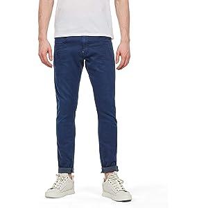 G Star Herren Jeans Revend Skinny Fit Schwarz Pitch