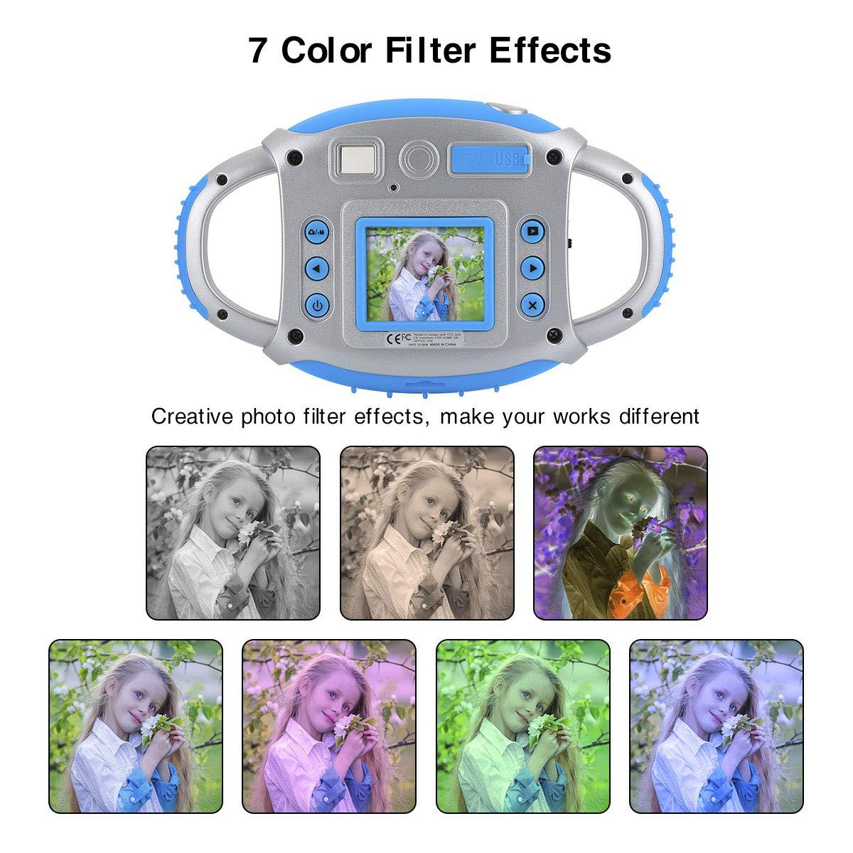 Funkprofi Kids Camera, Kids Digital Video Camera 5MP 1080P HD Recorder Camcorder with 32GB TF Memory Card, 1.77 Inch Screen, Funny Photo Frame, for Kids by Funkprofi (Image #5)