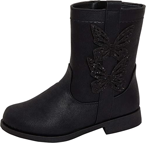 Lora Dora Girls Black Boots Kids