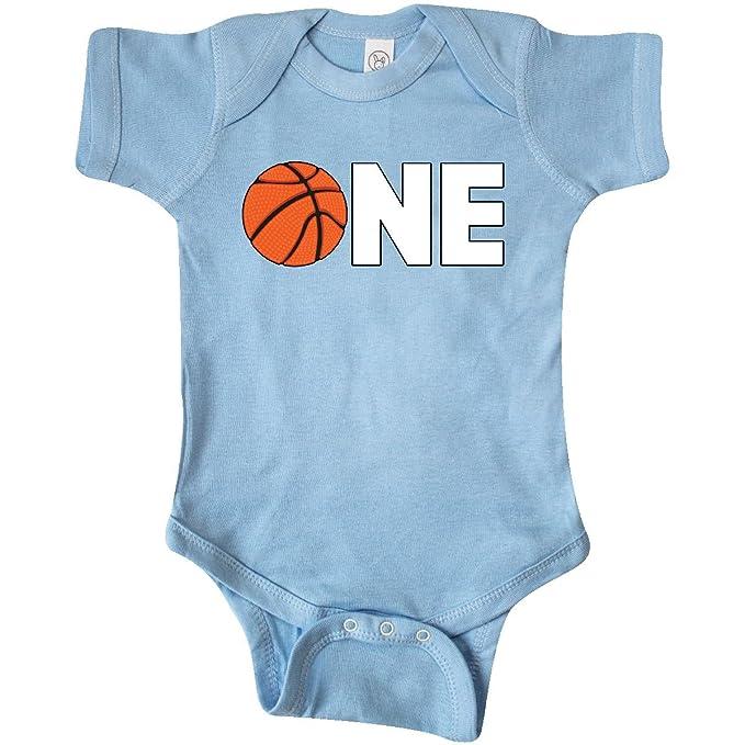 inktastic - One- Basketball First Infant Creeper Newborn Baby Blue 28746 5ea099226
