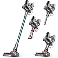 YTE Cordless Vacuum Cleaner, 6 in 1 Pet Hair Vacuum with 14KPa Suction, Up to 45 mins Runtime, Detachable Battery…