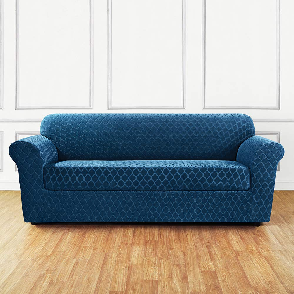 Amazon.com: SureFit Stretch Grand Marrakesh 2-Piece - Sofa Slipcover ...