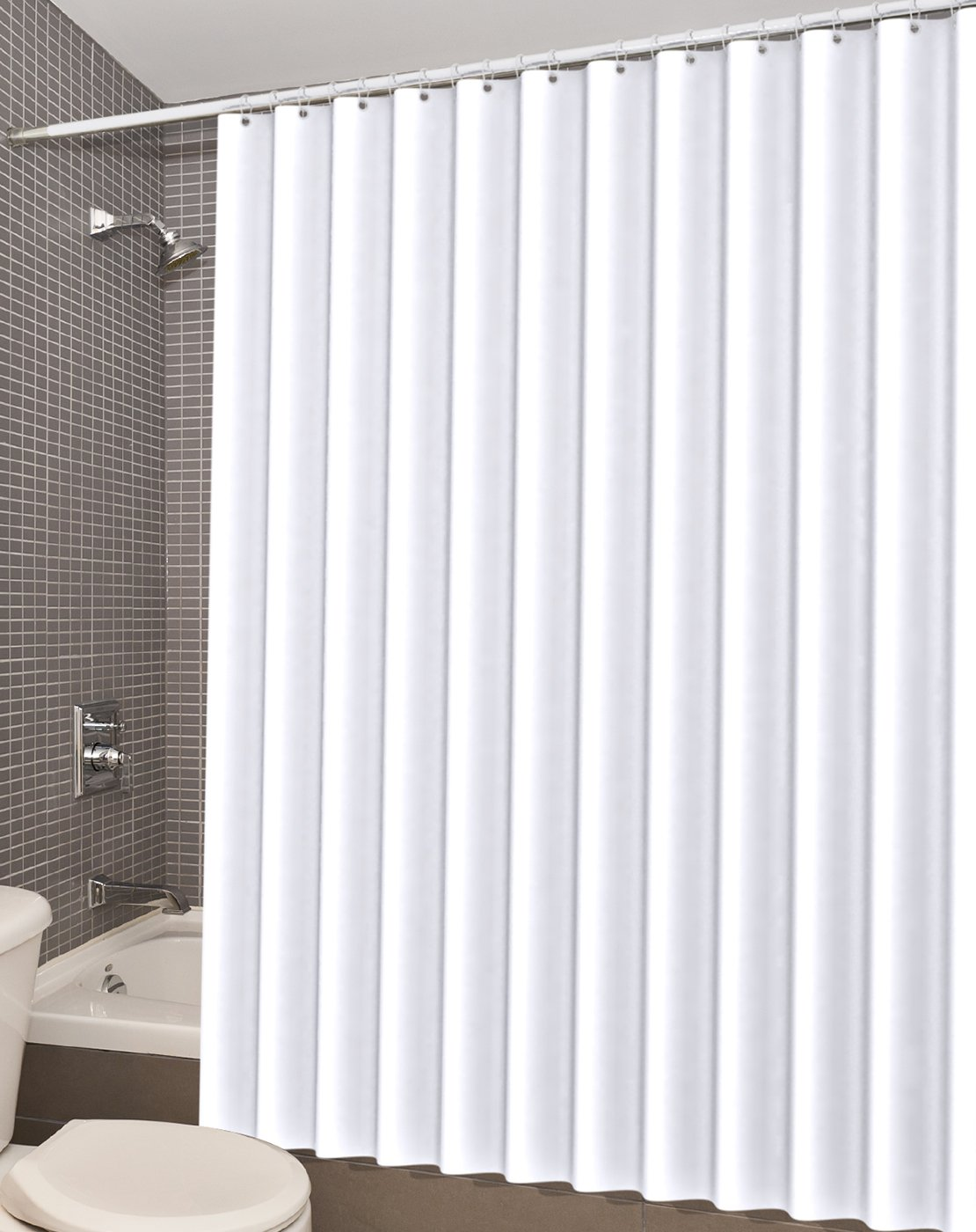 White Shower Curtain Liner Peva Water Repellent 72x72