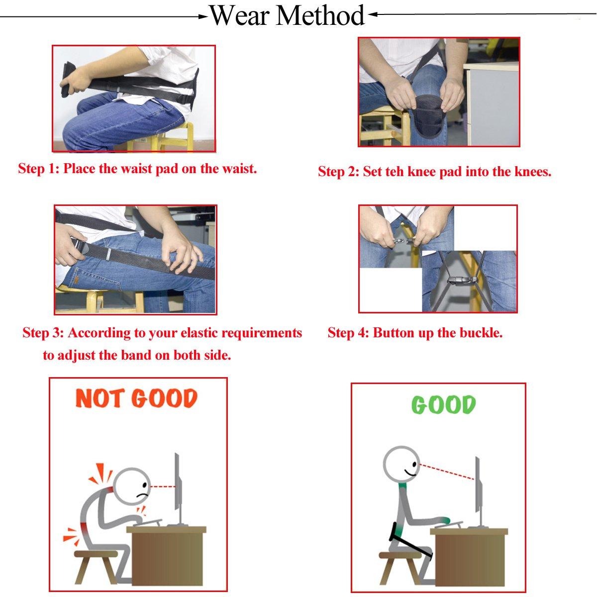Ueasy Adjustable Back Posture Corrector Brace Clavicle Brace Portable Correct Back Posture for Correction Posture Enhance Temperament by Ueasy (Image #5)