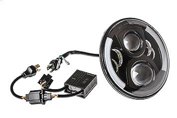 LED Scheinwerfer Abblendlicht Fernlicht Standlicht 7 Zoll für Jeep Mercedes Ford