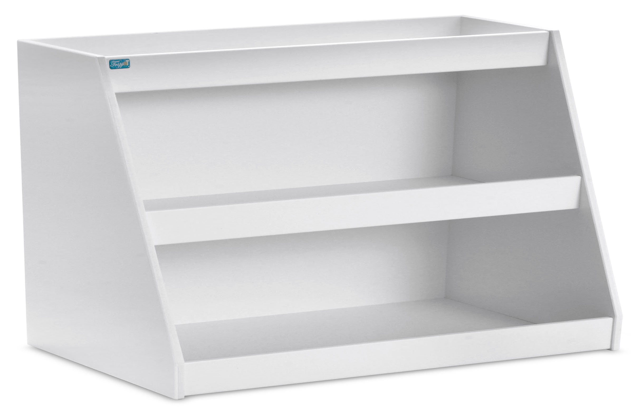 TrippNT 50479 PVC Angled Triple Safety Shelves, 24'' Width x 12'' Height x 9'' Depth, White