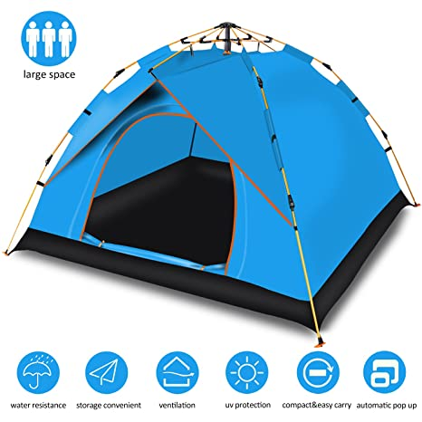 Cheryu Automatic Hydraulic Family C&ing TentPortable and Waterproof Instant Pop Up Backpacking Tents for  sc 1 st  Amazon.com & Amazon.com : Cheryu Automatic Hydraulic Family Camping Tent ...