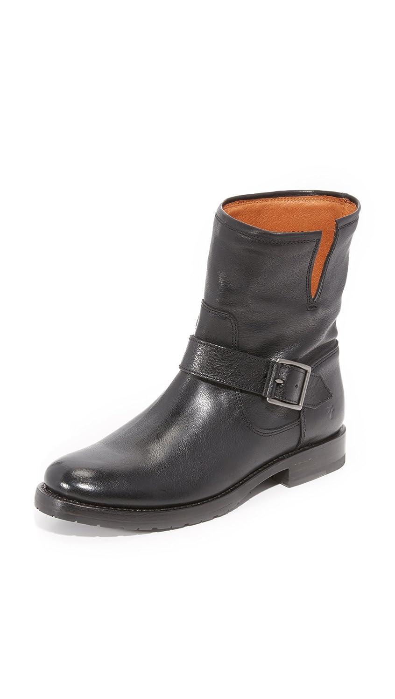 FRYE Women's Natalie Short Suede Engineer Boot B01AA6Y47S 7 B(M) US|Black