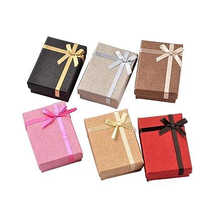 NBEADS - Juego de 24 Cajas de joyería de cartón con Forma de Cubo, Caja