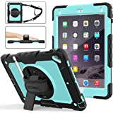 iPad 6th/5th Generation Case, New iPad 9.7 Inch 2018/2017 Case [Full-Body] & [Shock Proof] Armor Protective Case with…