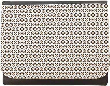 محفظة جلد  بتصميم دوائر  ، مقاس 12cm X 10cm