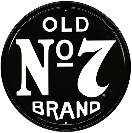 Memorabilia tin sign featuring the old no7 brand jack daniels logo memorabilia tin sign featuring the old no7 brand jack daniels logo 28x28cm voltagebd Gallery