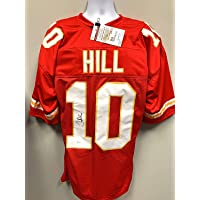 $75 » Tyreek Hill Kansas City Chiefs Signed Autograph Red Custom Jersey JSA Witnessed Certified *IMPERFECT/DISCOUNTED*