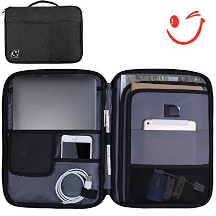 7e1395f8047f Amazon.com: Hilike Multifunction Tablet bags-A4 Document File ...