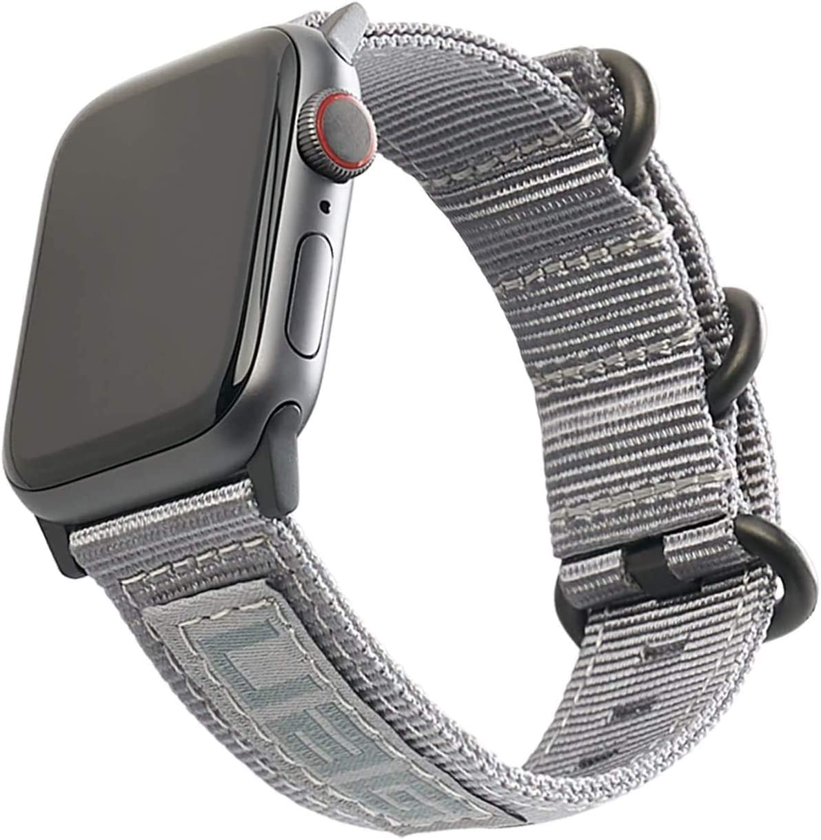 URBAN ARMOR GEAR UAG Compatible Apple Watch Band 40mm 38mm, iWatch Series 6/5/4/3/2/1 & Watch SE, High Strength Nylon Weave Replacement Strap, Nato Grey