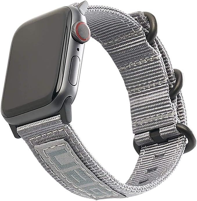 Urban Armor Gear Brazalete NATO para Apple Watch 42mm / 44mm (Watch SE, Series 6 / Series 5 / Series 4 / Series 3 / Series 2 / Series 1, Correa de Nylon de Repuesto) Gris: Amazon.es: Electrónica