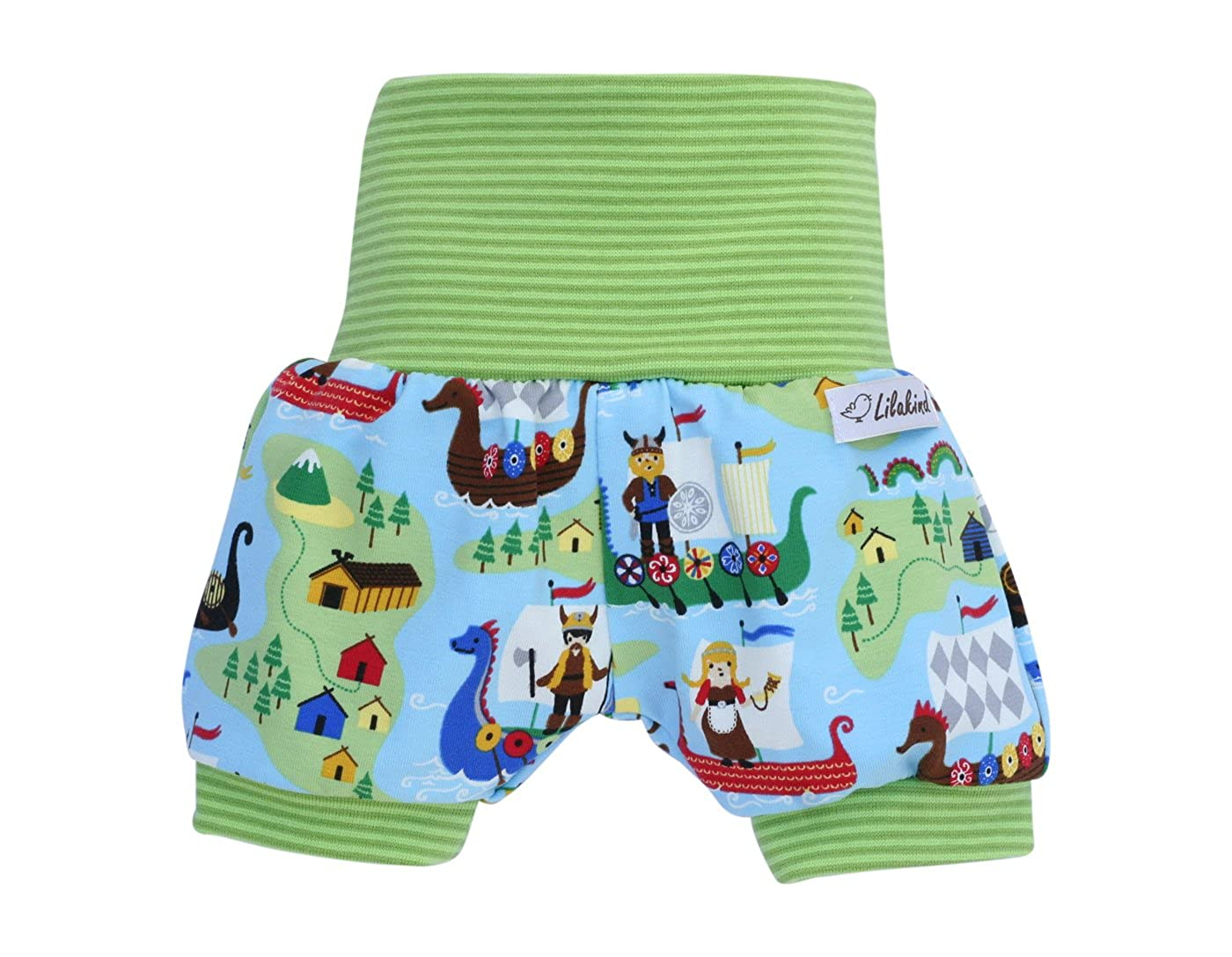 Lilakind Kurze Jungen Pumphose Shorts Buxe Sommerhose Wikinger - Made in Germany