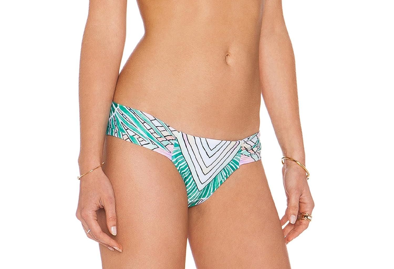 MARA HOFFMAN Women's Side Ruched Bikini Bottom Medium