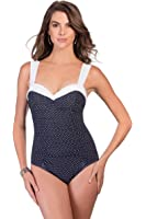 Miraclesuit Womens Pin Point Saxon One-Piece