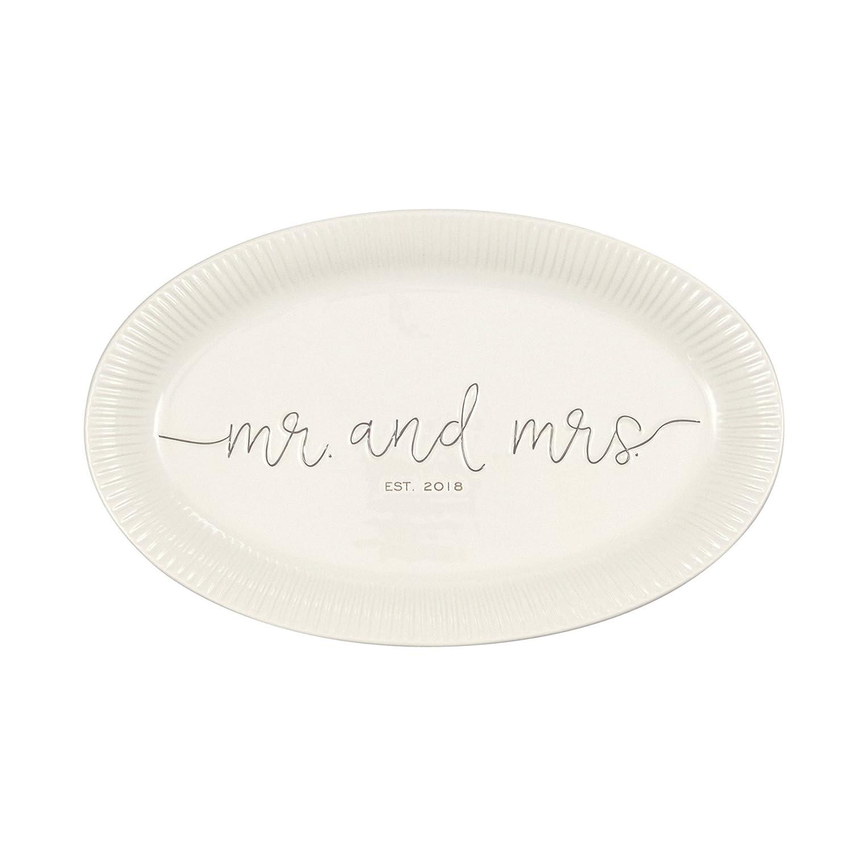 Mud Pie Mr. & Mrs. Wedding Platter 4075126