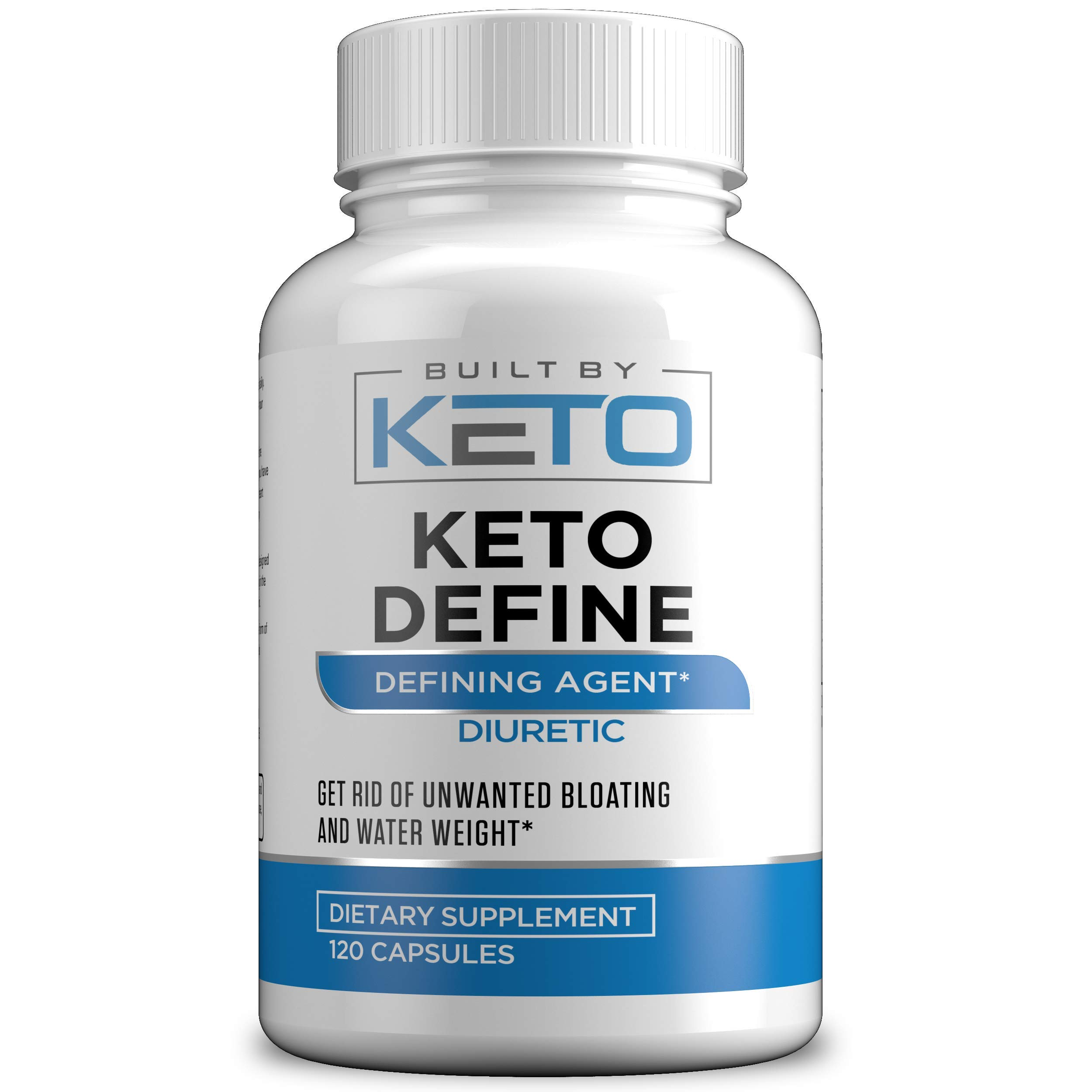 Water Pills Diuretic - Natural Supplement for Water Retention Relief - Keto Define Water Weight Loss Formula Relieves Water Weight Gain, Bloating, Puffiness, and Fatigue - Built By Keto - 120 Capsules