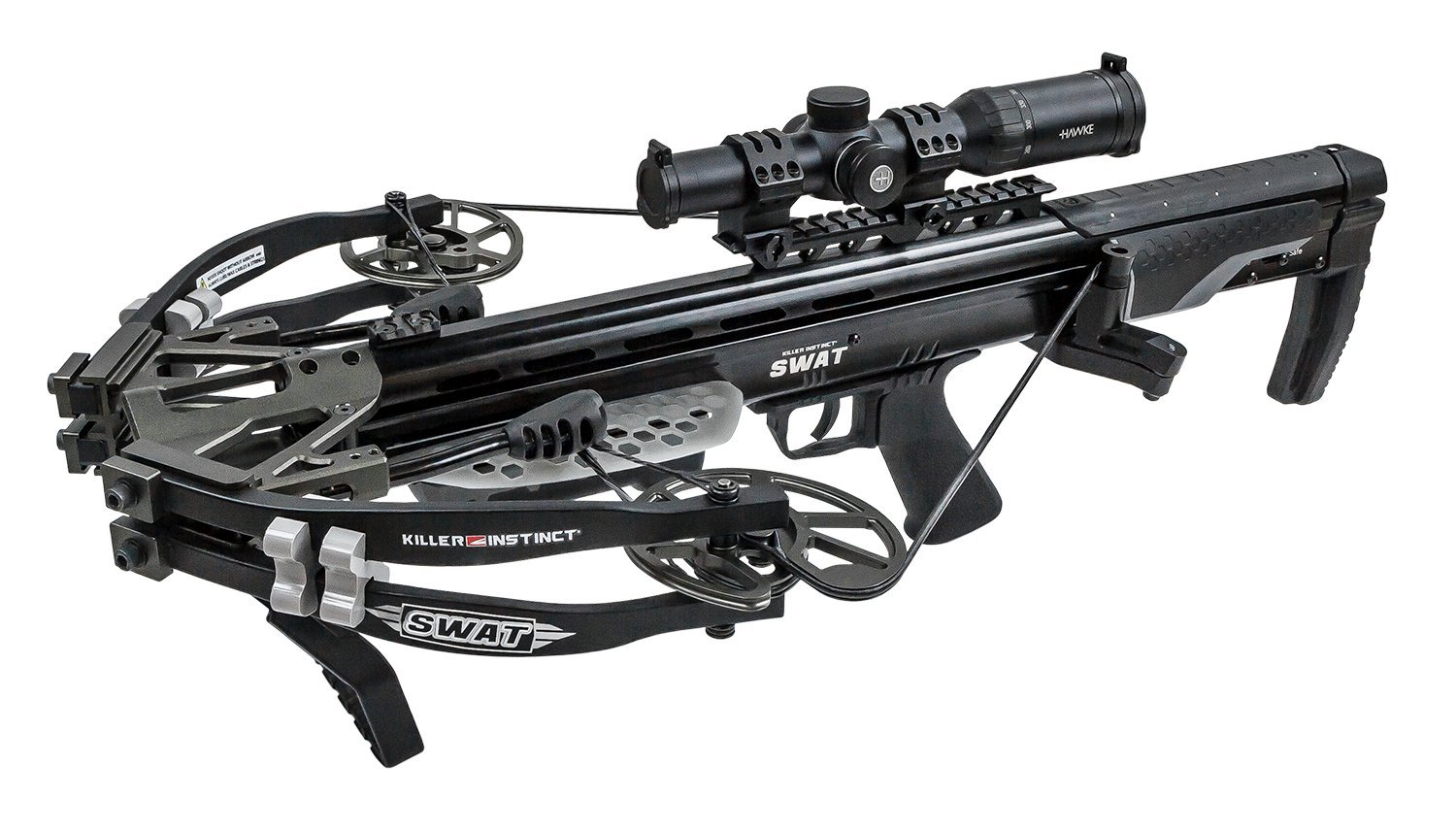 Killer Instinct SWAT Package - High Performance, Accurate Crossbow - Includes Hawke XB30 Pro 1-5 X 30 Scope, Deadening Limb Silencers, Folding Foot Stirrup, and 2.5 lb. Killer Instinct Trigger by Killer Instinct (Image #4)