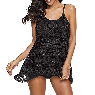 ac6aad139b Zando Swimsuits for Women Teen Two Piece Stripes Bathing Suits Tankini Top Bikini  Swimwear with Brief