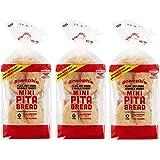 Joseph's Low Carb MINI Pita Bread 3-Pack, Flax, Oat Bran and Whole Wheat, 5g Carbs Per Serving (8 Per Pack, 24 MINI Pita…