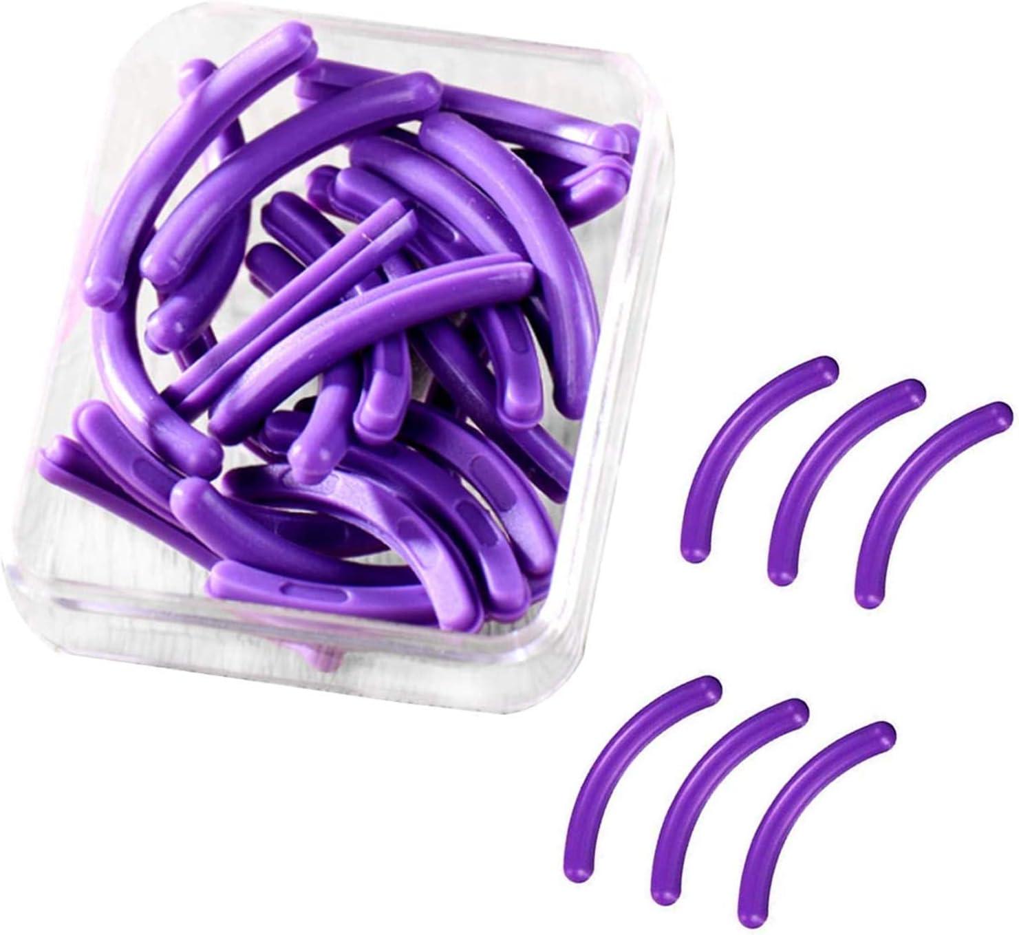 LEBQ 24 recambios para rizador de pestañas, Almohadillas de Recambio de Goma de Silicona, Color Negro, recambios para rizador de pestañas Universal con una Caja de Almacenamiento Transparente: Amazon.es: Hogar