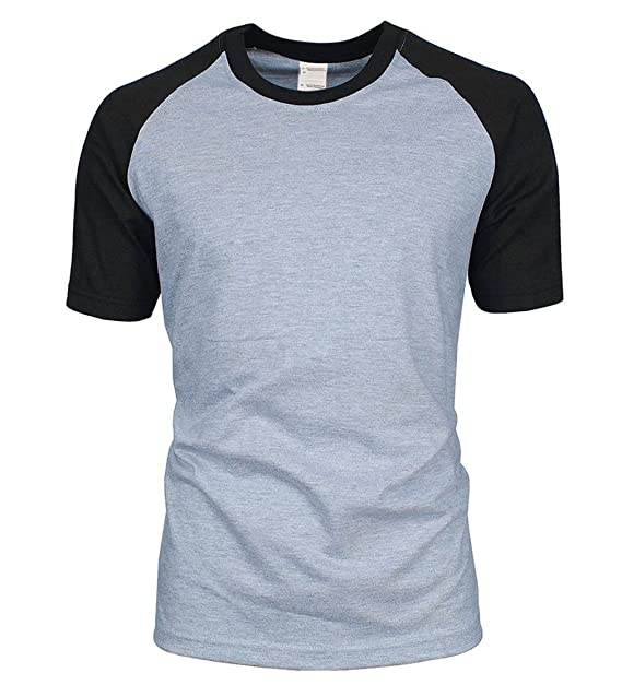 6a5751d7121 Image Unavailable. Image not available for. Color  Solid Color T Shirt Men  New Summer 100% Cotton ...