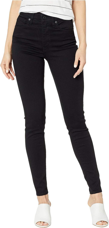 Levi's Damen Mile High Super Skinny Jeans Black Galaxy