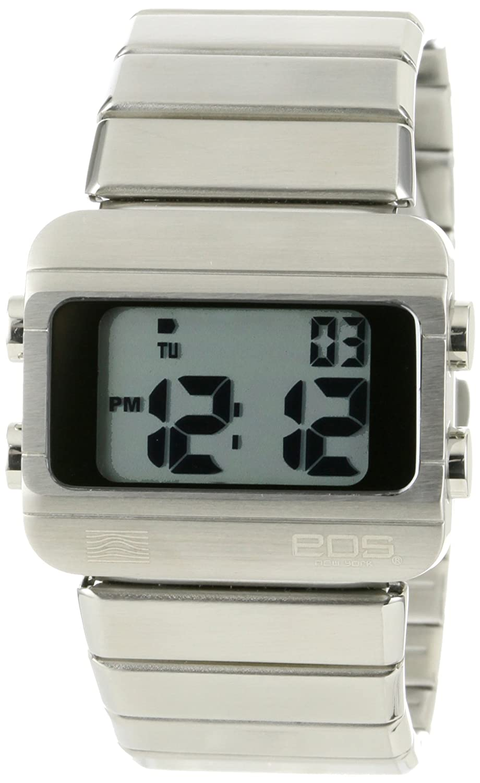 EOS New York - Sprinx Digital - Silber Stahl Digital Unisex Uhren