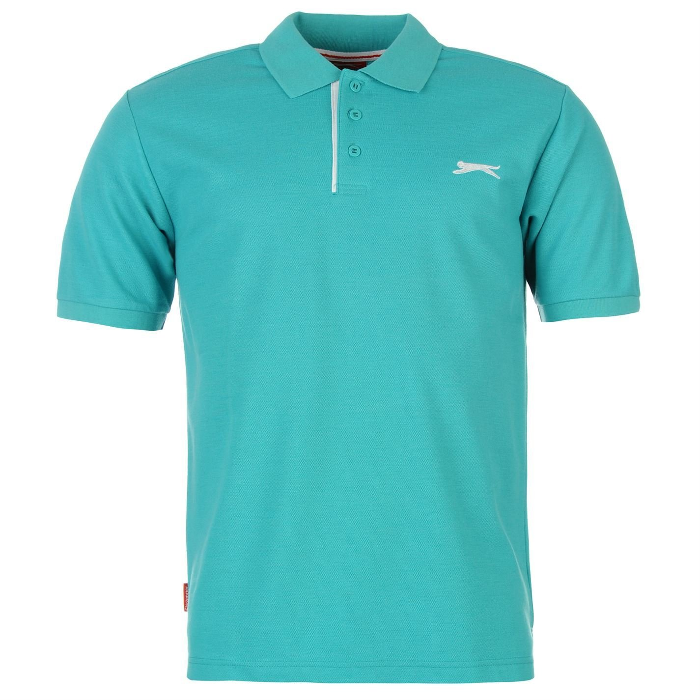 Slazenger Camiseta polo para hombre simple cerámica azul, Ceramic ...