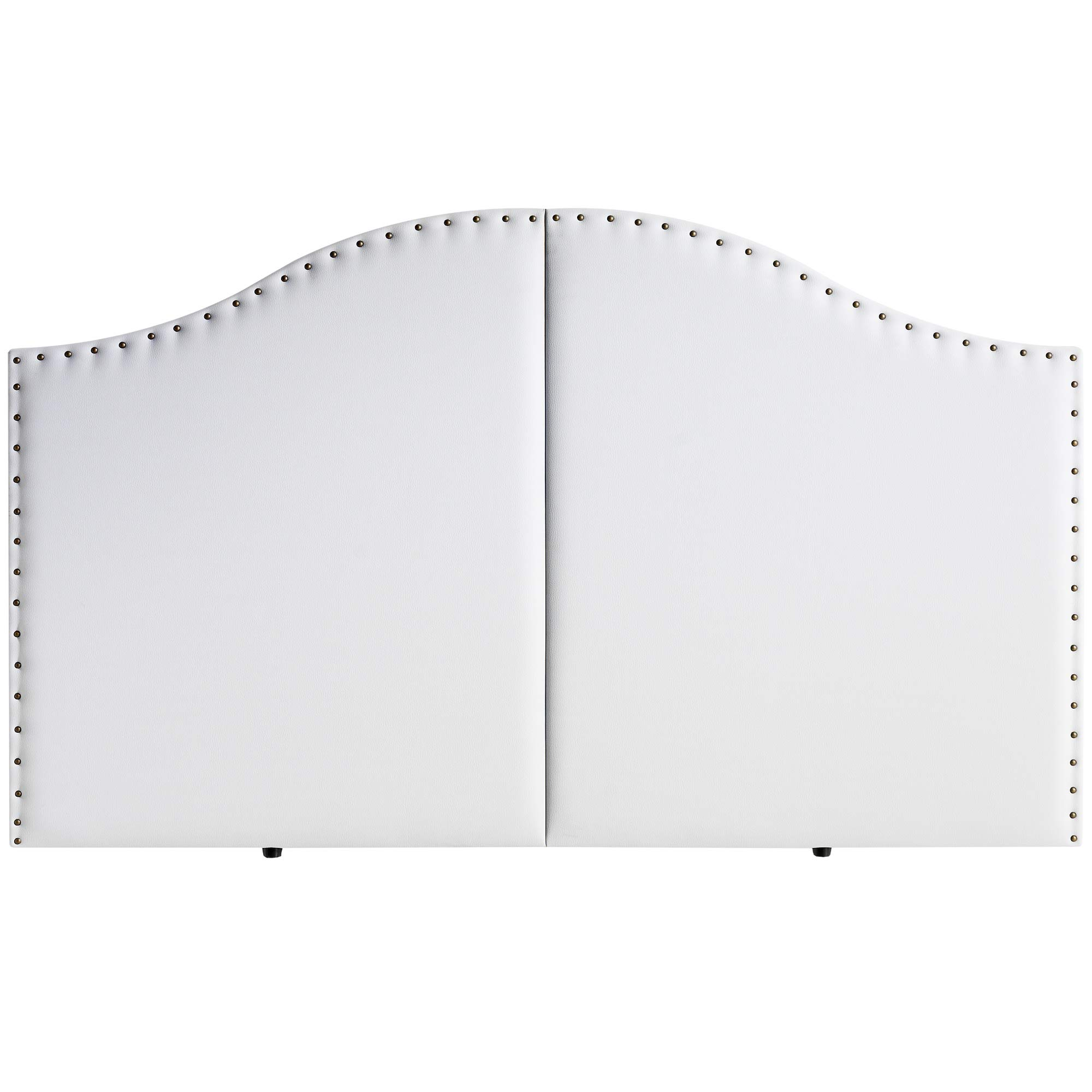 Marckonfort Cabezal Partido tapizado Lyon 160X95 con Tachuelas Blanco product image