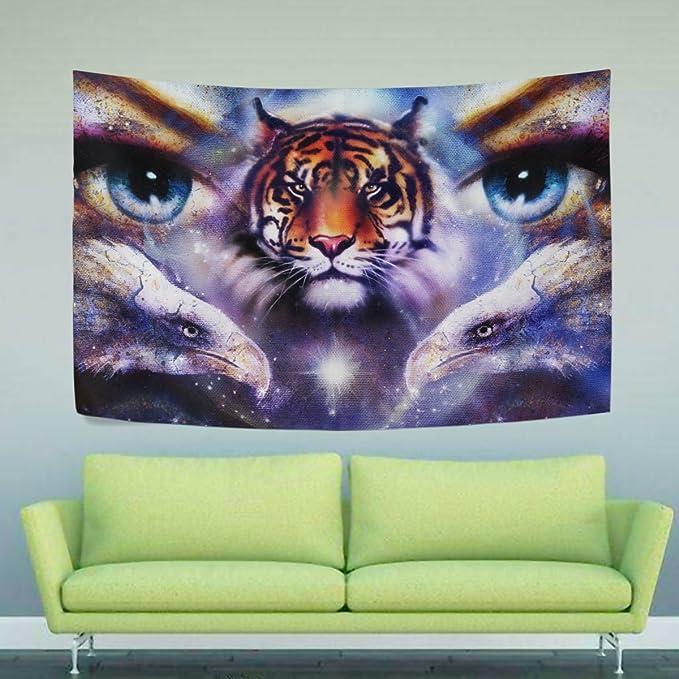 WIHVE - Tapiz de Ojo de Tigre Yin Yang Eagle: Amazon.es ...