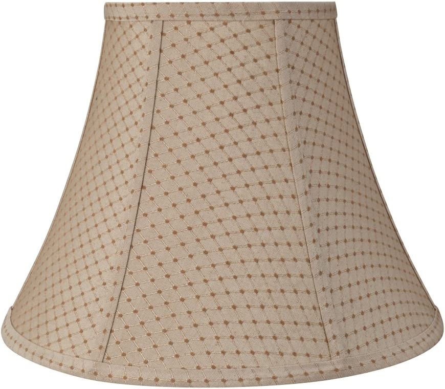 Aspen Creative 30133 Transitional Bell Shape Construction Beige, 14 Wide 7 x 14 x 11 Spider LAMP Shade