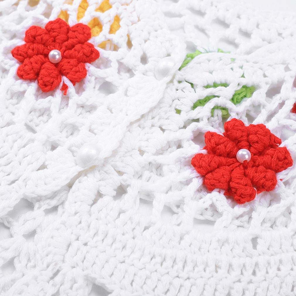 Memela Baby Girls Long Sleeve Knitted Bolero Cardigan Flower Girl Shrug Dress Cover Up