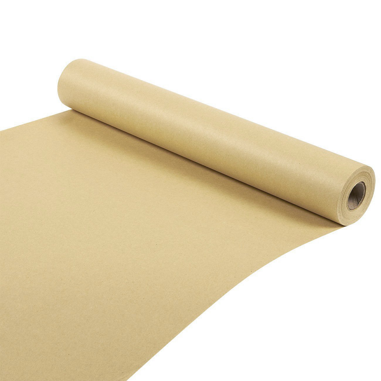 "5 5m x 600mm 24/"" 24  STRONG BROWN KRAFT WRAPPING PAPER 90gsm roll heavy duty"