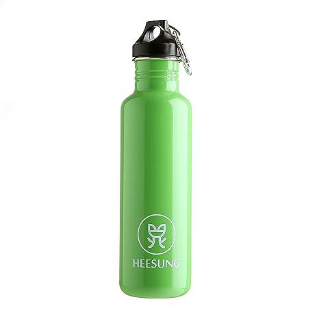 Botella de agua de acero inoxidable Heesung de 750 ml ...