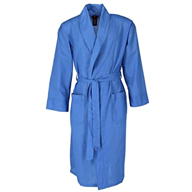 Amazon.com  Hanes Men s Lightweight Woven Broadcloth Robe  Clothing ac11954d4